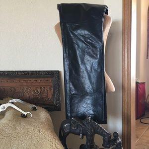 Gap black leather pants